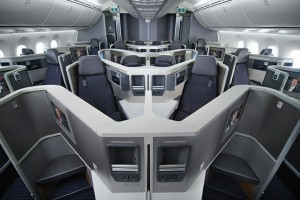 The buiness class cabin on American's 787 (Picture by American)