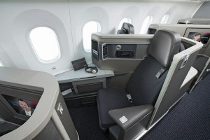 American's business class seat (Picture from American)