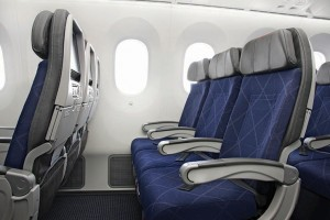Three Main Cabin seats on American's 787 (Photo by American)