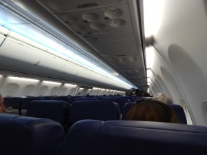 Southwest's Boeing Sky Interior (Photo by the author)