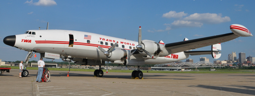 """A TWA Lockheed Constellation, affectionately named """"Connie."""" It lives at the National Airline History Museum in Kansas City 