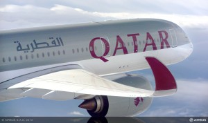 Qatar Airways A350-900 XWB (Photo via Airbus)