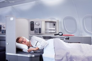 First Class onboard the A321T (Photo via American Airlines)