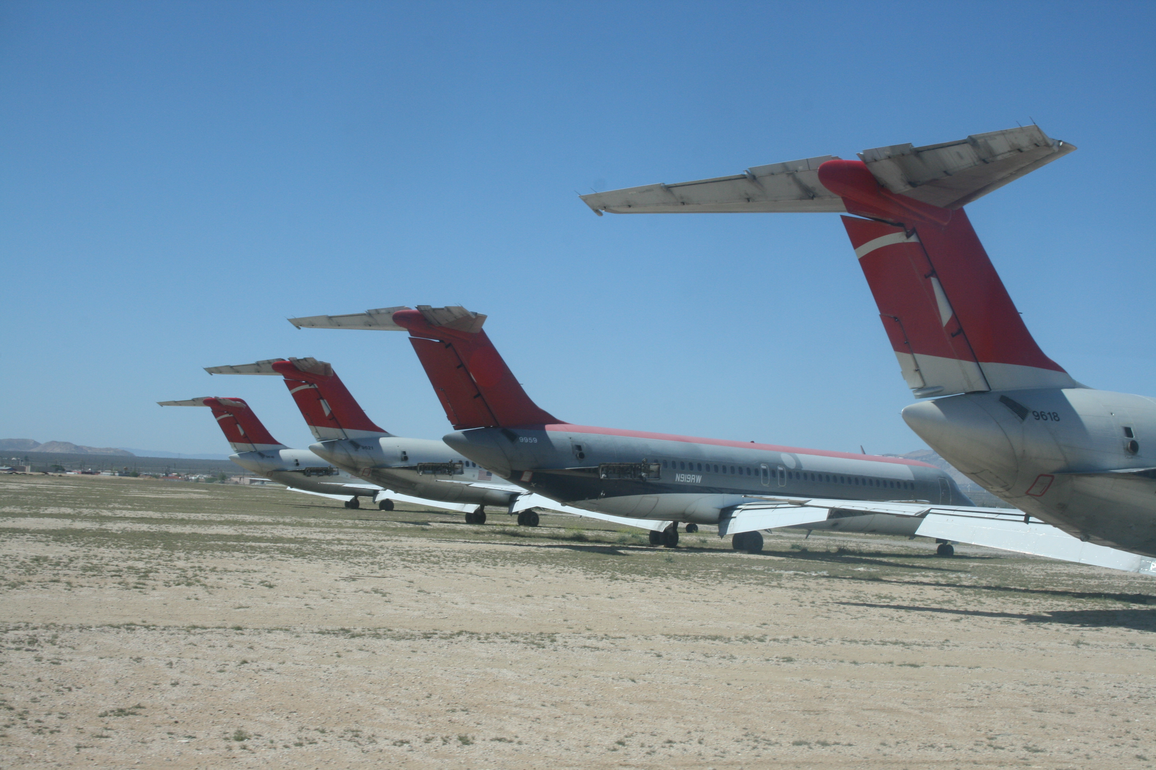 Where Airplanes Go to Retire: The Dusty Mojave Desert