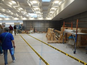 The future home of security, when finished the TSA will operate four individual screening lines