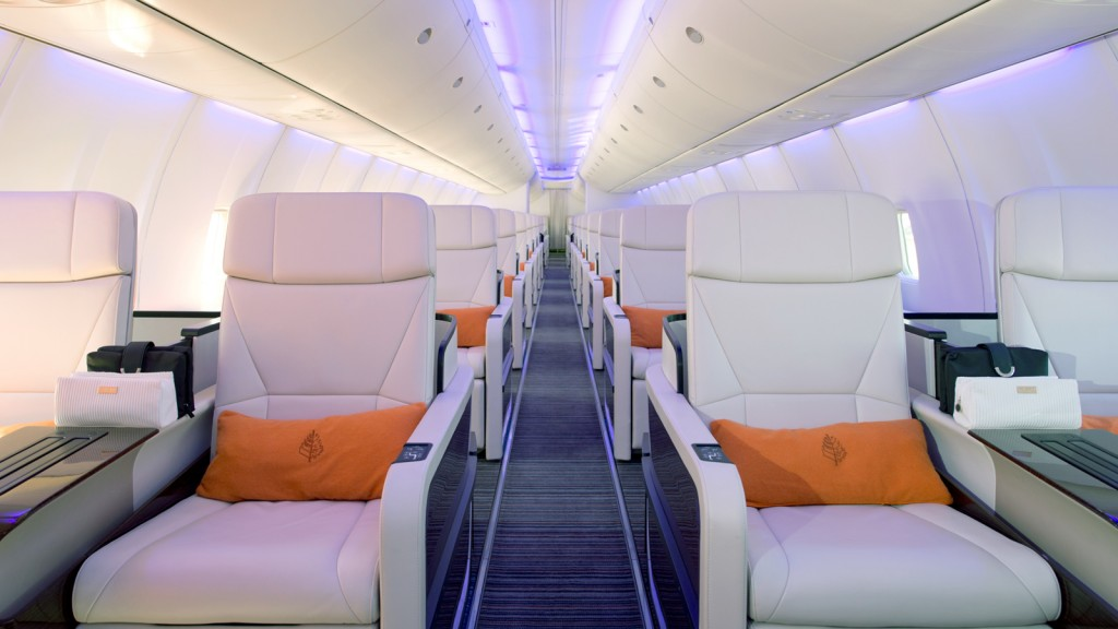 The Four Seasons' jet cabin (Photo provided by Four Seasons)