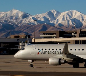 An American E175 at SLC (Photo by Ryan Ewing)