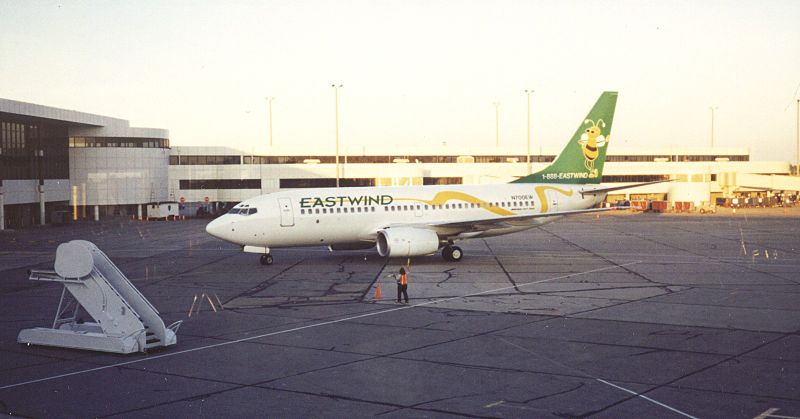 A Eastwind 737-700 at ROC (Photo provided by JKruggel (Own work) [CC BY-SA 3.0 (http://creativecommons.org/licenses/by-sa/3.0)], via Wikimedia Commons
