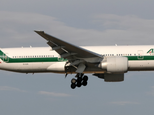 """Boeing 777-243(ER), Alitalia JP7623959"" by Aldo Bidini - Gallery page http://jetphotos.net/viewphoto.php?id=7623959Photo http://images3.jetphotos.net/img/4/2/4/3/76307_1370527342.jpg. Licensed under GFDL 1.2 via Wikimedia Commons."