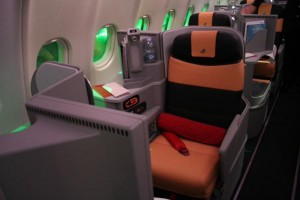Alitalia's new business class product (Photo courtesy of Flight-Report.com)