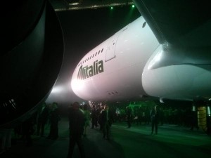 Alitalia's A330 in the new livery | Photo provided by Flight-Report.com