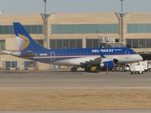 A Midwest Airlines E-Jet (Photo provided by Ian McMurtry)
