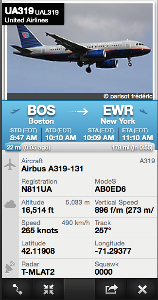 This info was obtained through FlightRadar24