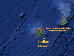 A map depicting the area in which the fragment was located (Map courtesy of Google Maps)