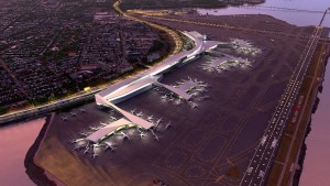 An aerial view of the revamped LGA (Graphic provided by Gov. Cuomo's website)