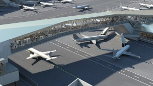 A bridge similar to DIA's that connects the terminals. (Graphic provided by Gov. Cuomo's website)