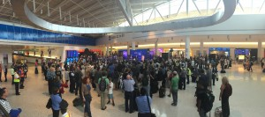 Panoramic of the huge crowd formed to see and hear Carly Rae Jepsen #LFT5