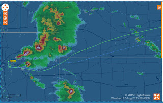 Screenshot of the Delta flight (Courtesy of Flightaware)