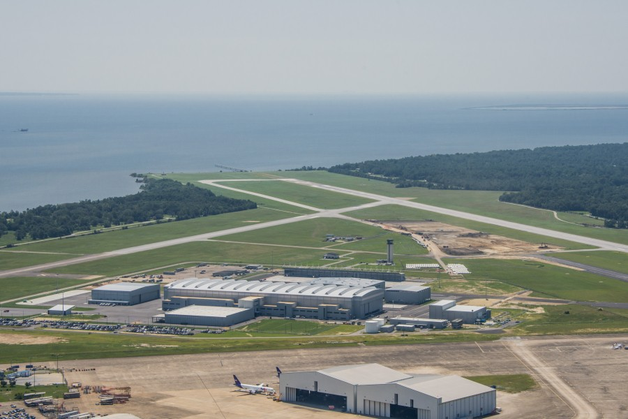 An aerial photo of Airbus' facilities in Mobile (Photo provided by Airbus)