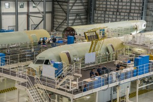 Some aircraft on the line in Mobile (Photo provided by Airbus)