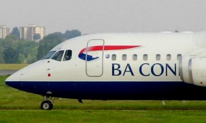 A BA Connect RJ100 (Photo provided by ozz13x (BA Connect) [CC BY 2.0 (http://creativecommons.org/licenses/by/2.0)], via Wikimedia Commons)