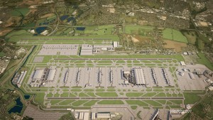 An aerial airport of LHR (Photo provided by Heathrow Airport)