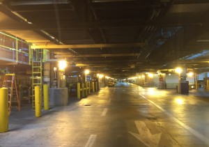 American's massive baggage sorting area