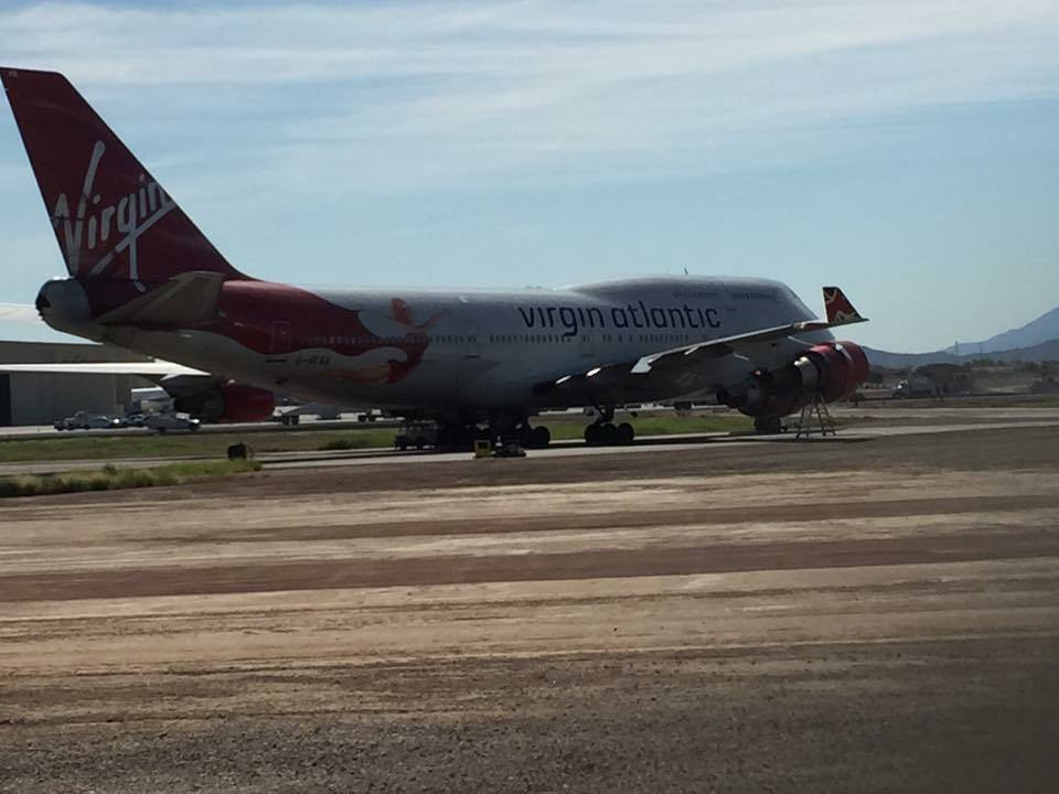 "Photo of ""Lady Penelope"" sitting on the tarmac. Courtesy of Joseph Buckingham."