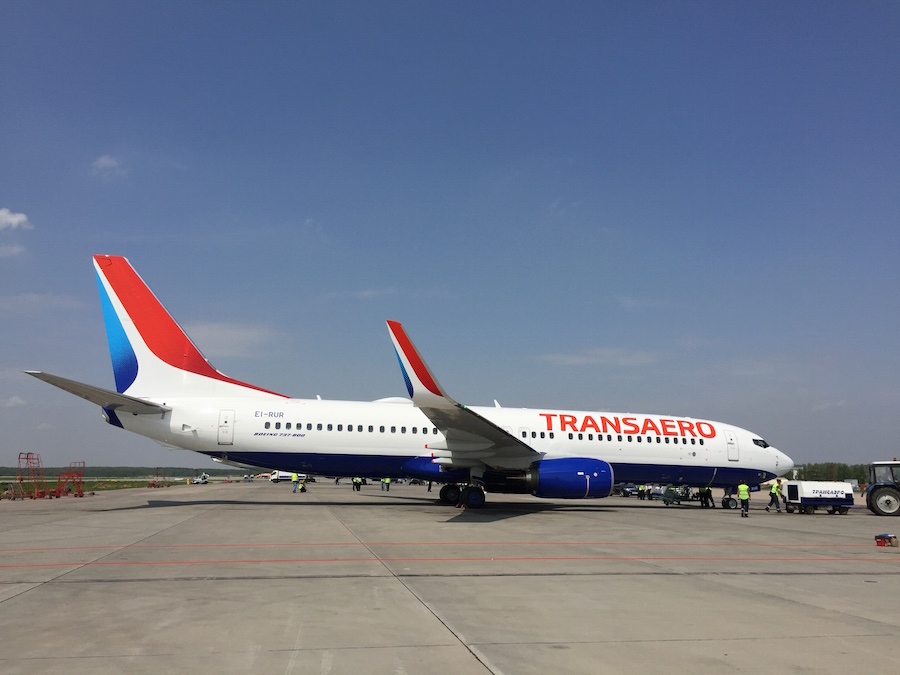The Transaero 737-800 (Photo provided by Boeing)