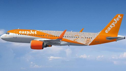 A look at the new EasyJet 20th birthday special livery (Photo provided by EasyJet)