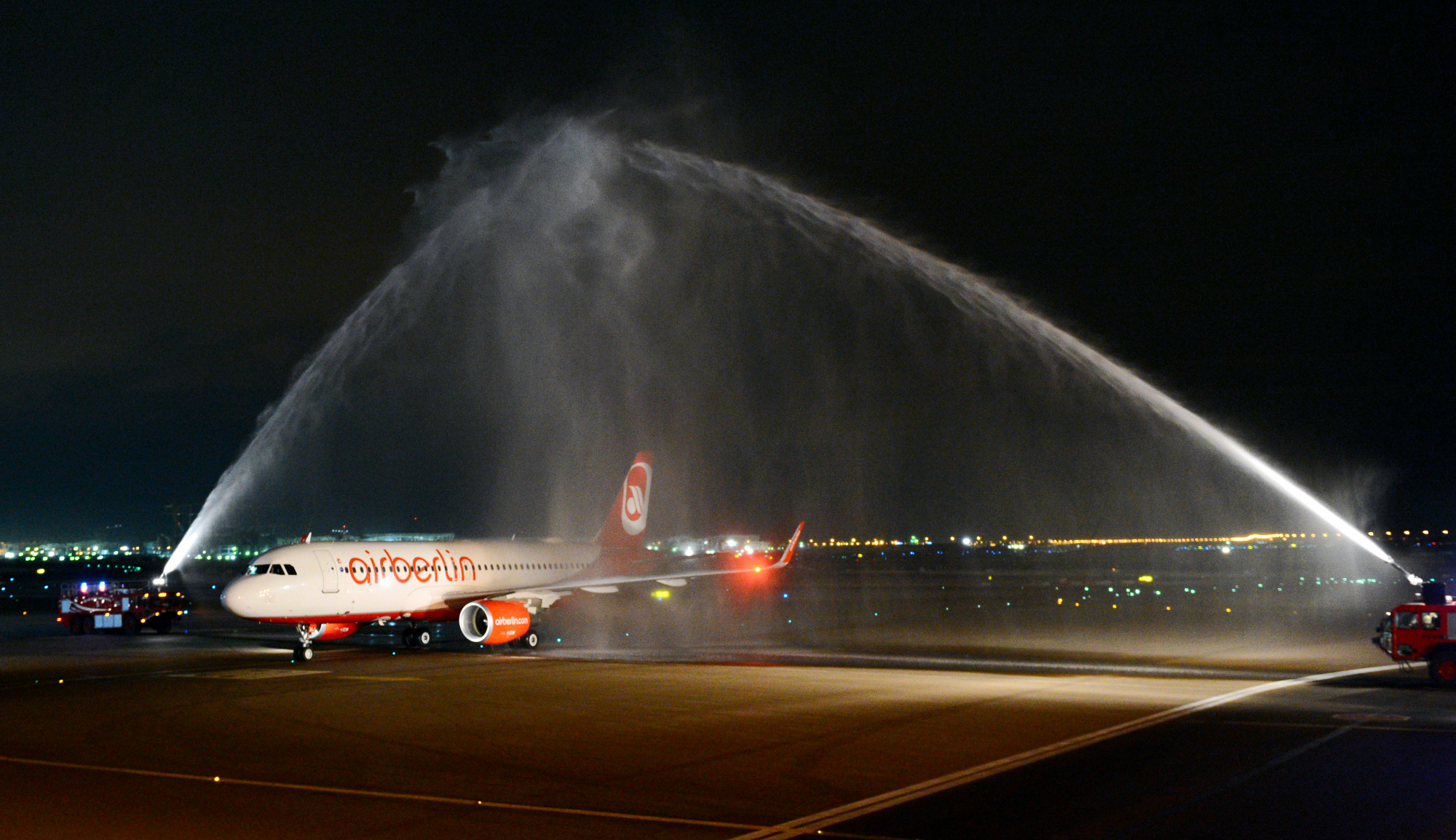 Airberlin aircraft in Abu Dhabi - Photo Courtesy of Etihad