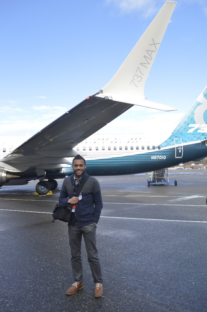Me in front of the 737 MAX