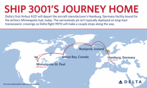 The Path of Delta's New A321 - Photo Courtesy of Delta
