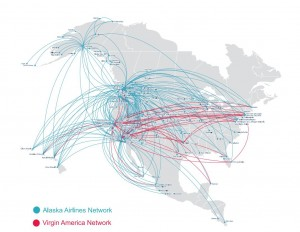 Combined Routes of Alaska and Virgin America - Photo Provided by Alaska Airlines