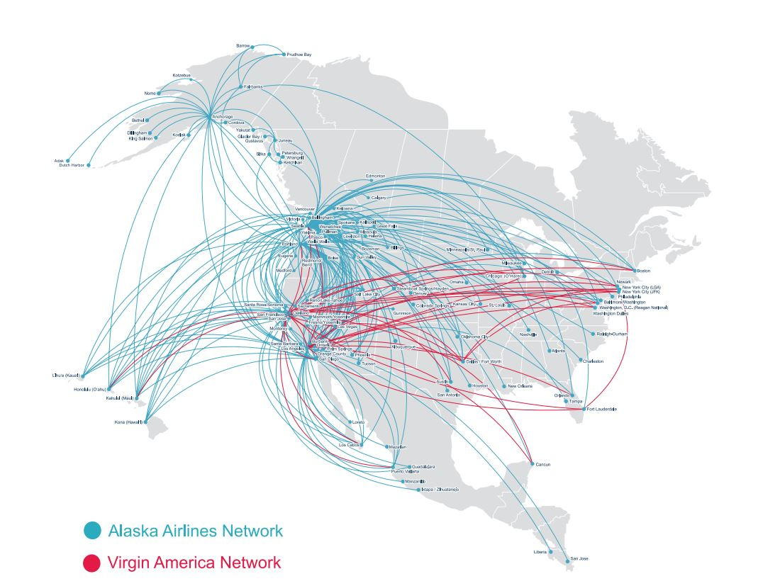 Network Impact Alaska Airlines Acquires Virgin America