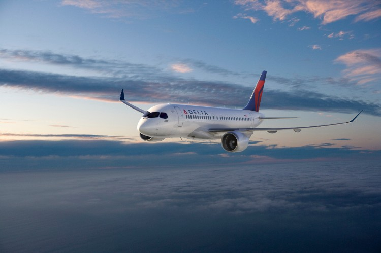CS100 in Delta Livery - Photo provided of Bombardier