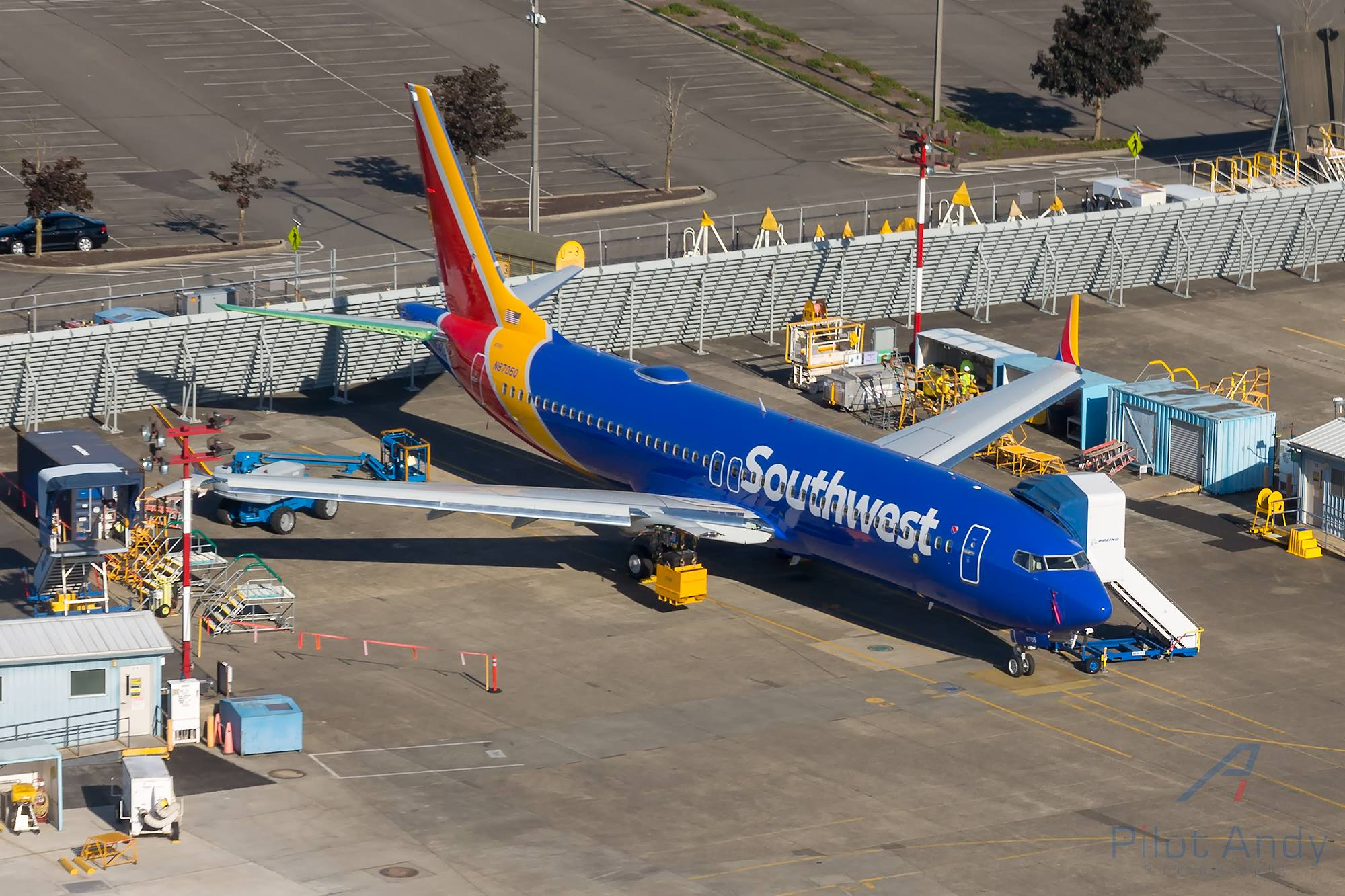 Southwest's first 737 MAX (Photo provided by Chuyi Chuang)