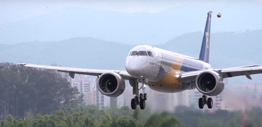 Photo provided by Embraer video (screenshot)