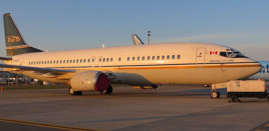 Photo provided by RAF-YYC from Calgary, Canada (Flair Air Boeing 737-400) [CC BY-SA 2.0 (http://creativecommons.org/licenses/by-sa/2.0)], via Wikimedia Commons