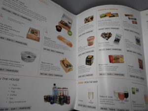 The dining selecting on Icelandair