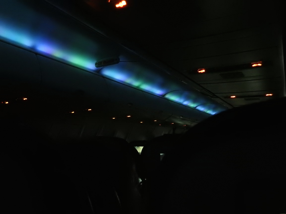 Icelandair's Northern Lights on the ceiling