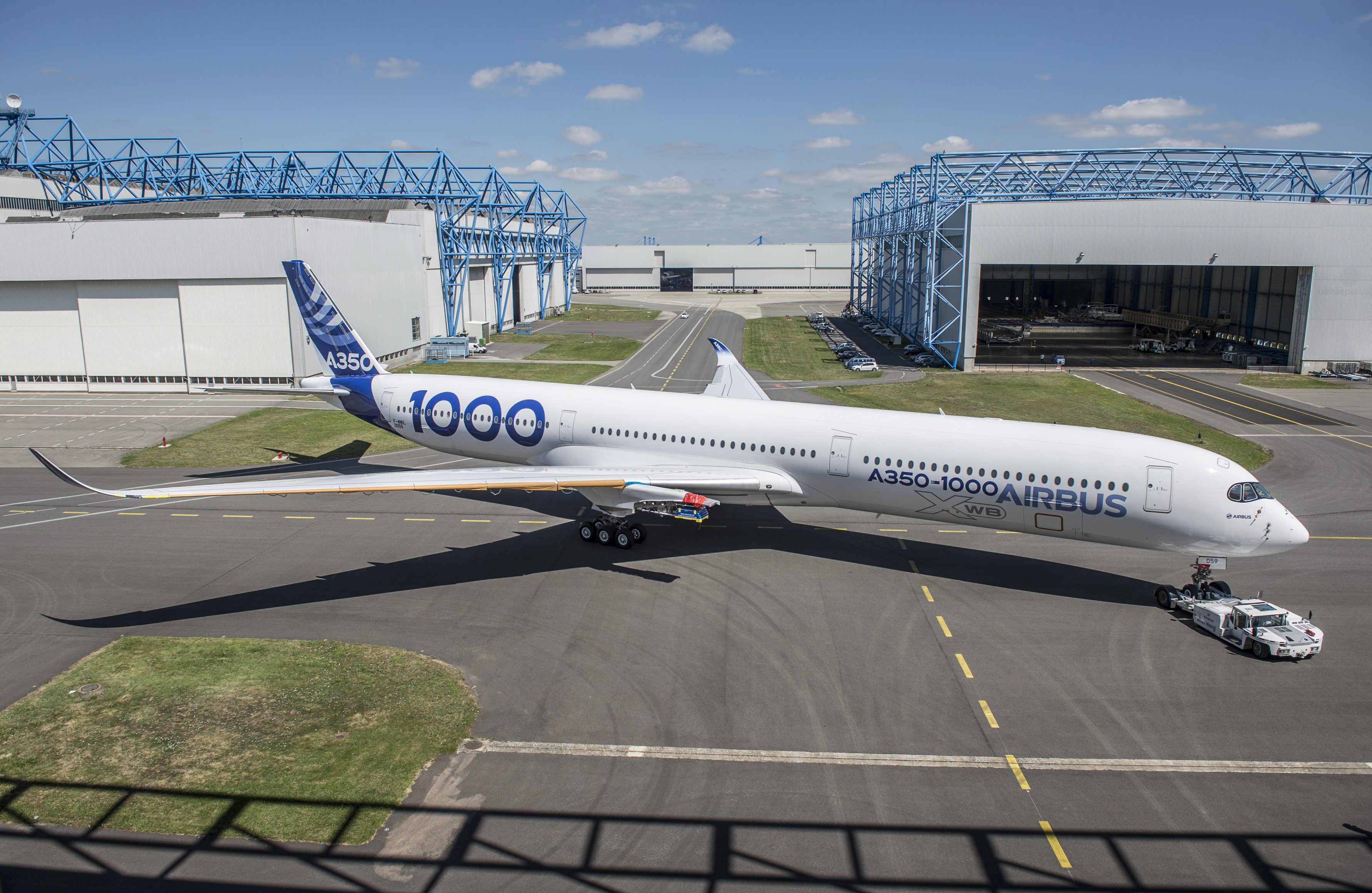 Second A350 1000 Test Aircraft Rolls Out Of Paint Shop