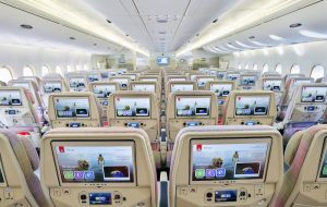 The inflight entertainment system onboard Emirates (Photo: Emirates)