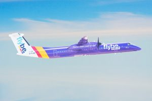 "The airline's ""purple livery"" as seen on the Dash 8s (Photo: Flybe)"
