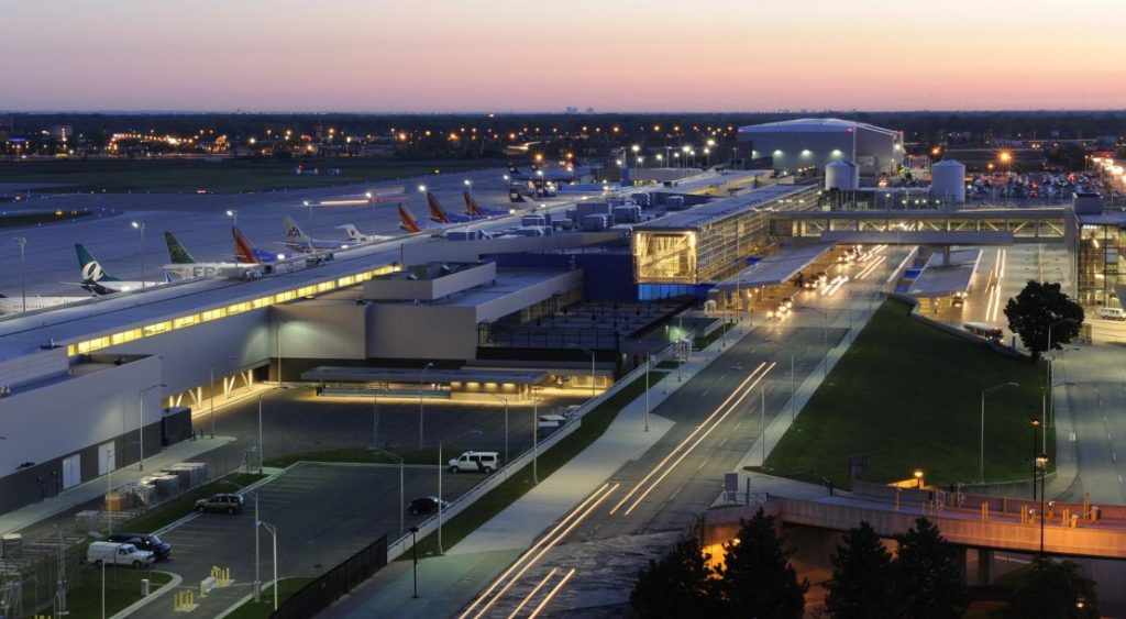 Picture from Detroit Metropolitan Airport.