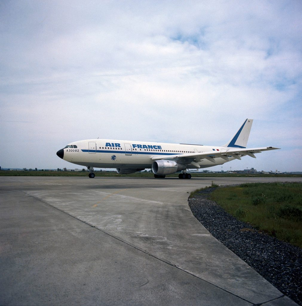 The first Airbus A300B2 was for Air France and was delivered on May 10th, 1974! Picture from Airbus.