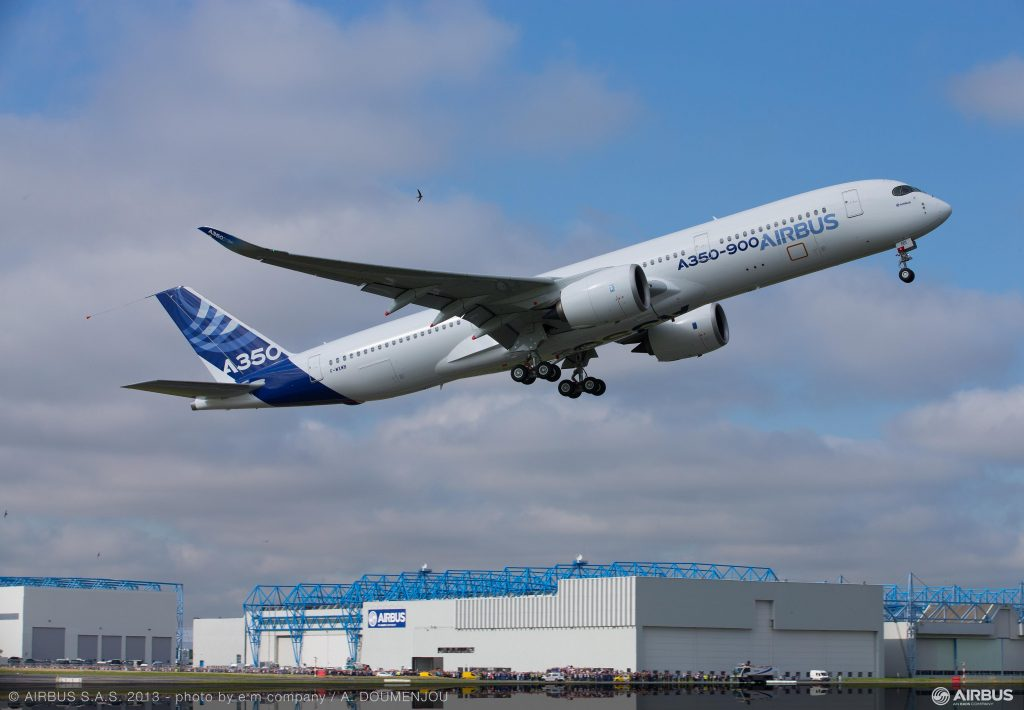 Picture of MSN1 departing from Toulouse. Picture from Airbus.