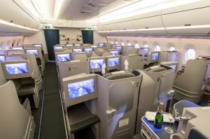 An A350 test cabin (Photo: Airbus)