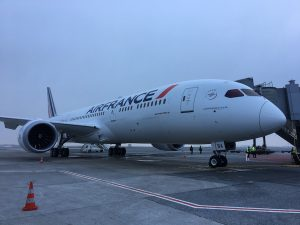 The 787 Dreamliner on the ground in Paris (Photo: Air France)