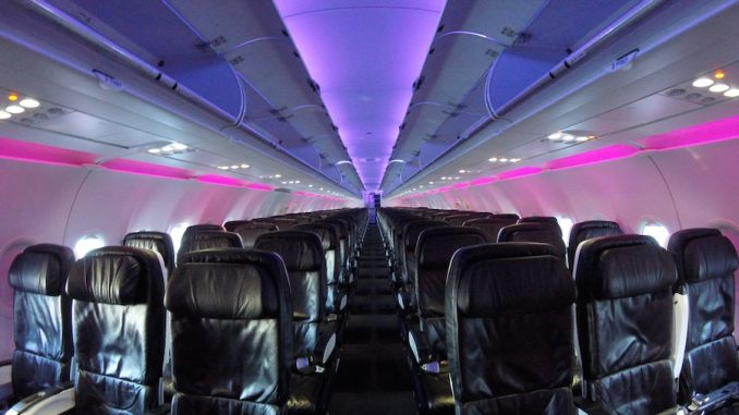 Inside Virgin Americau0027s Airbus A320 Cabin (Photo: Ryan Ewing)